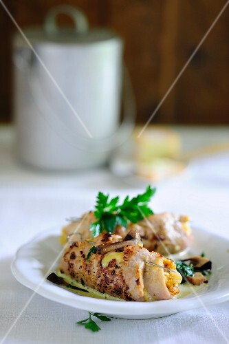 Veal roulade with a creamy sauce
