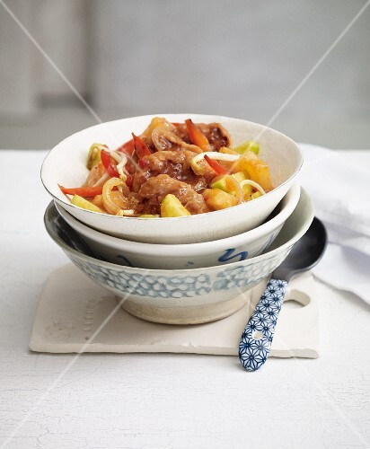 Classic stir-fried, sweet-and-sour pork (China)