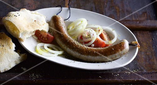 Homemade Greek sausages with fennel seeds