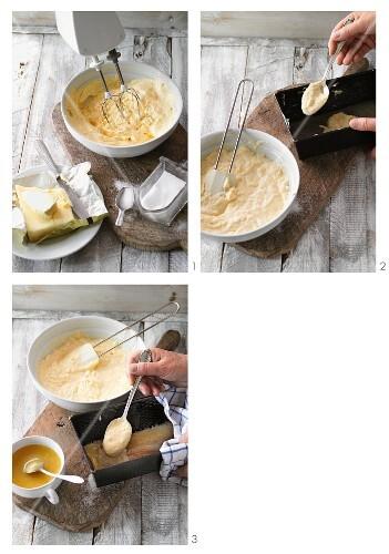 Classic Baumkuchen (German layer cake) being made