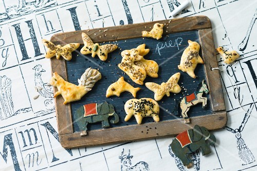 Savoury animal biscuits
