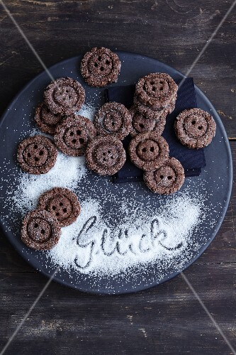 Gluten-free button biscuits with chia seeds