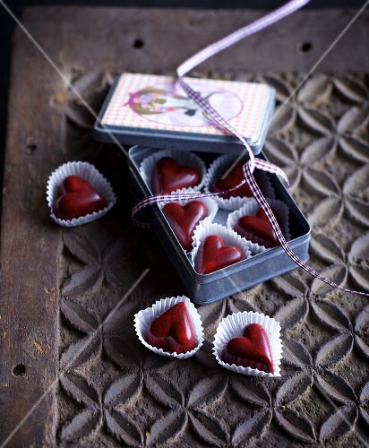 Port wine hearts as a gift