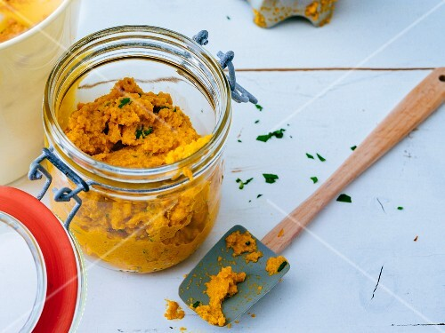 Gluten-free carrot and walnut paste