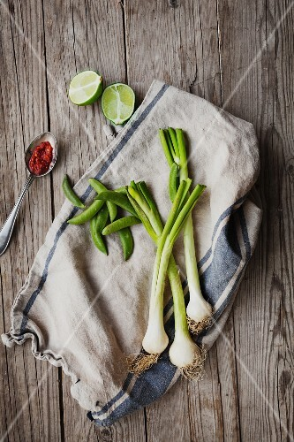 Vegetables on a cloth