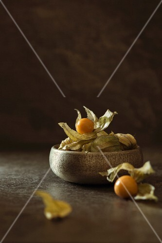 A bowl of physalis