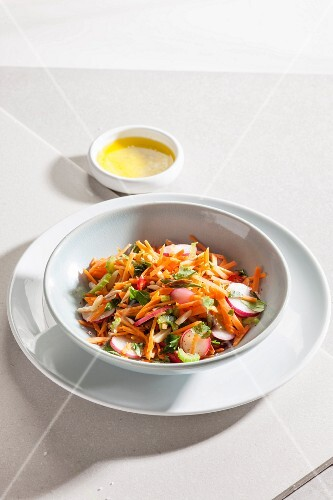Spicy carrot and celery salad
