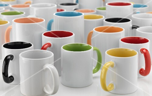 Porcelain coffee mugs