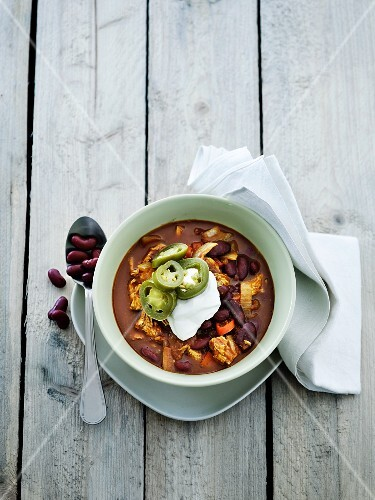 Chilli con carne with chicken