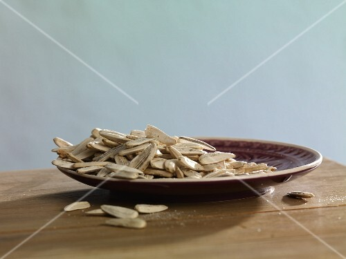 A plate of sunflower seeds