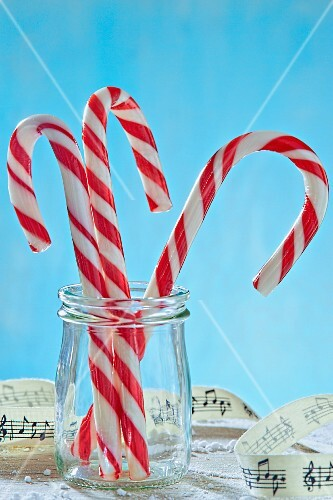 Glass of Candy Canes