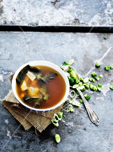 Miso soup with seaweed and tofu (Japan)