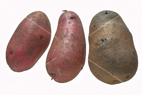 Red Emmalie and Blue Congo potatoes