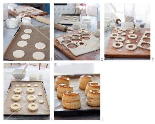 Vol-au-vents being made