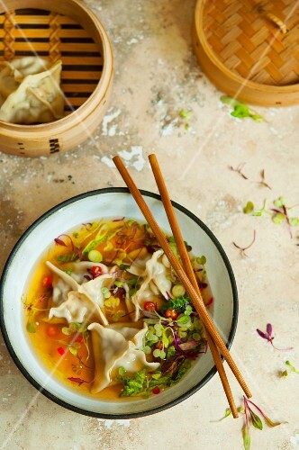 Won ton soup with chilli rings (Asia)