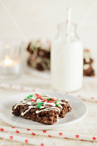 Christmas chocolate flapjacks