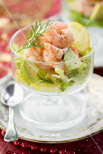 Prawn cocktail with avocado