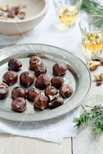 Roasted Chestnuts on the Grill