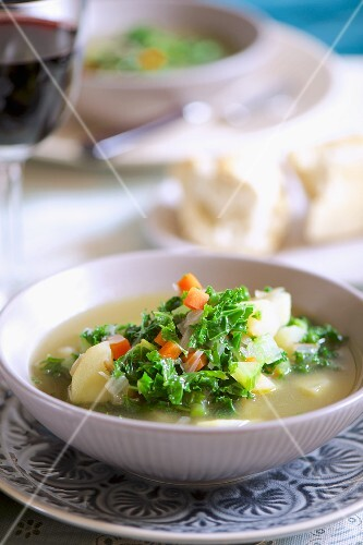 Potato soup with kale