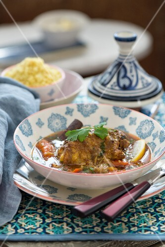Lamb tagine with carrots and lemons (Morocco)