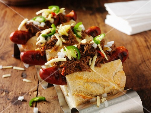 Hot dogs with pulled pork