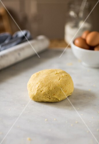 A ball of shortcrust pastry
