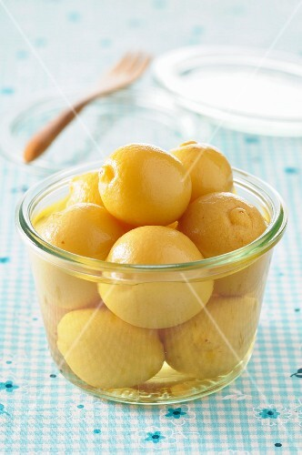 Salted lemons in a jar
