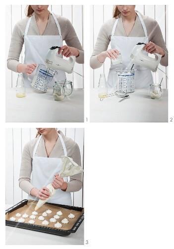 Vegan meringue being made