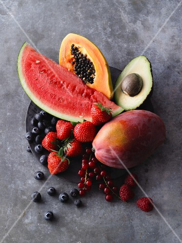Fruit and berries for smoothies