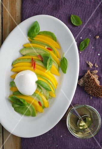 Mango and avocado caprese
