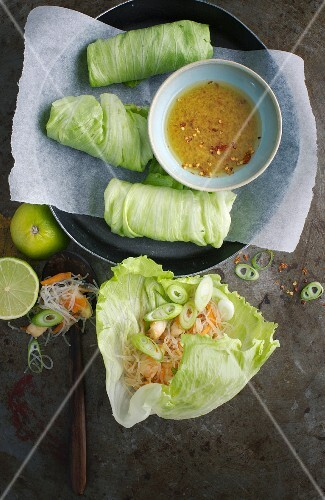 Summer rolls with a ginger dip