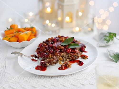 Pork stuffing with cranberries for Christmas