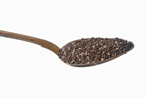A spoonful of chia seeds