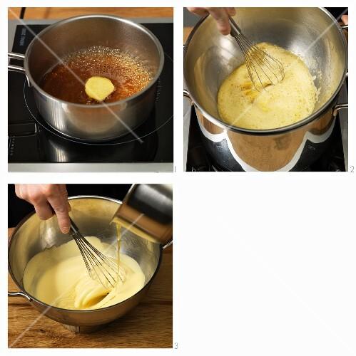 Ginger sabayon being made