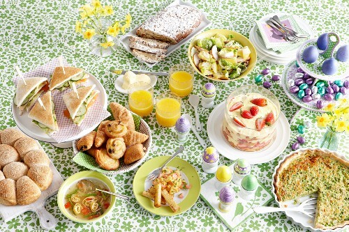 A buffet for Easter brunch
