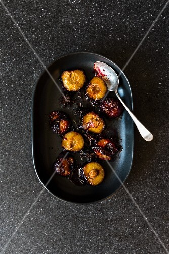 Roasted plums with star anise