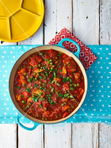 Fish stew with peas
