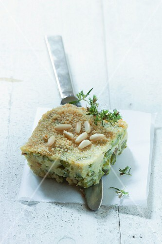 Pasticcio ligure (fish pie with pine nuts, Italy)