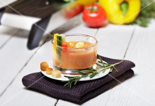 Gazpacho with croutons