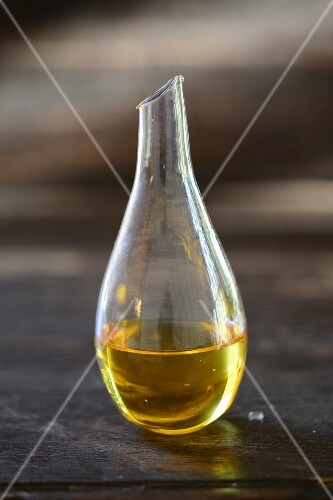 Agave syrup in a small glass carafe