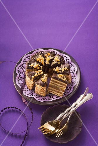 Slices of German layer cake