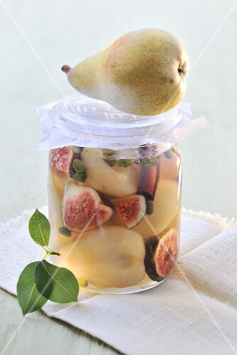 Pickled pears and figs