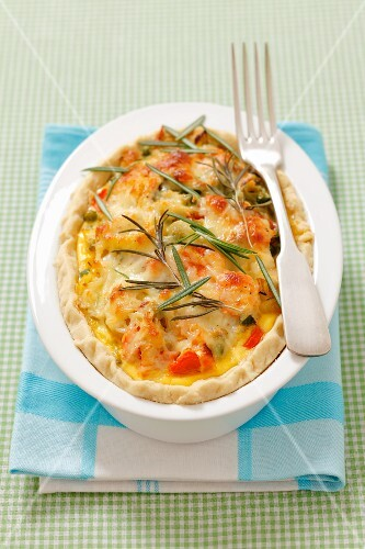 A vegetable bake with cheese and rosemary
