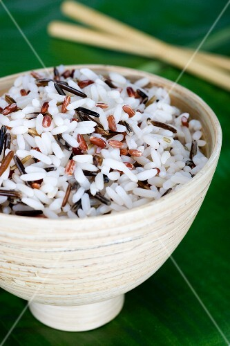 A bowl of wild rice