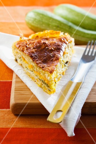Puff pastry cake with carrots and spinach