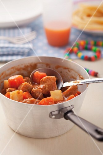 Veal ragout with carrots and parsnips