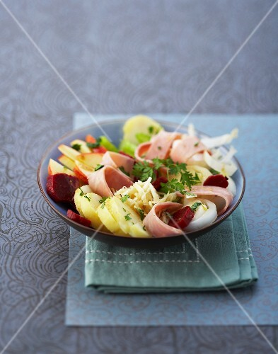 11033531 salade beaucaire salad made with ham cheese potatoes and ...