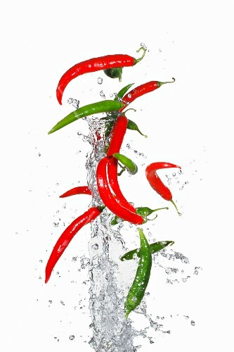 Airborne chillies and water