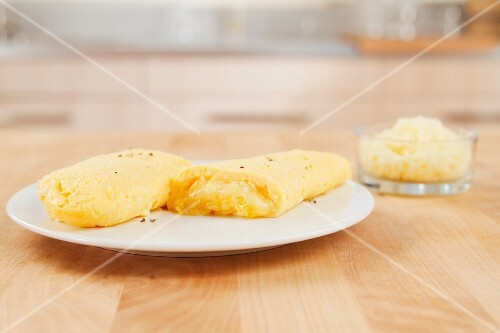 Omlette with cheese filling