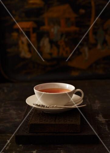 eine tasse tee aus japan bild kaufen 11047871 stockfood. Black Bedroom Furniture Sets. Home Design Ideas